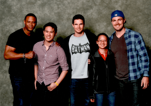 AREA-Stephen-Amell-David-Ramsey-and-Rob-Amell-Star-of-Arrow-and-Flash-Arrow-Diggle-and-Firestorms
